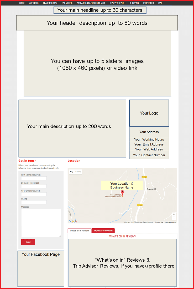 Customer example page